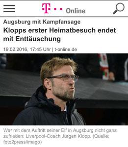 Jürgen Klopp, t-online, 19.02.2016