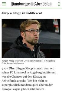Jürgen Klopp, Hamburger Abendblatt