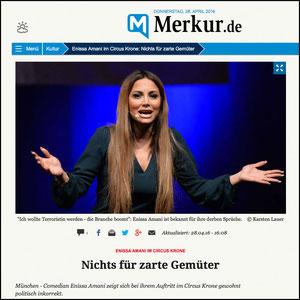 Enissa Amani, Münchner Merkur, 28.04.2016
