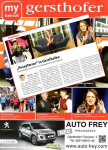 Carolin Kebekus, My Heimat Stadtmagazin Gersthofen 05/2013