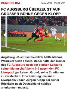 FC Augsburg - FC Liverpool, 19.02.2016