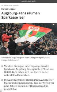 FC Augsburg, Süddeutsche Zeitung, 24.02.2016
