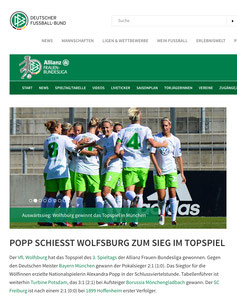 VFL Wolfsburg, DFB.de, 25.09.2016