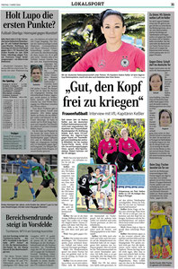 Wolfsburger Allgemeine, Nadine Kessler & Alexandra Popp, 07.03.2014