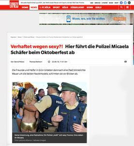 Micaela Schäfer,Kölner Express, 23.09.2016