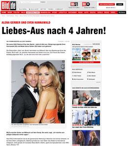 Sven Hannawald & Alena Gerber, bild.de, 11.04.2014