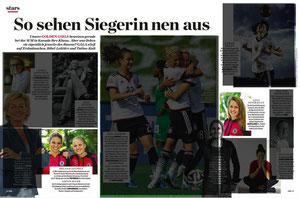 DFB-Frauen Lena Petermann, Leonie Maier und Melanie Leupolz, Gala, 26/2015