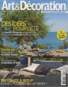 ART & DECORATION MAGAZINE - STOOL LISERE FURNITURE - JULY 2014