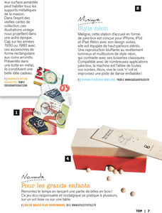 TOP MAGAZINE, PLAY EVERYWHERE - NOMAD MARBLES GAME - NOVEMBER 2013