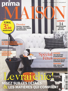 PRIMA MAISON MAGAZINE - DESK LISERE COLLECTION - DECEMBER 2013