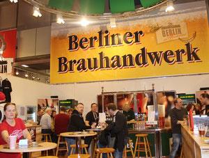 Plakat Berliner Brauhandwerk, Berlinhalle Grüne Woche.2015. Foto: Helga Karl