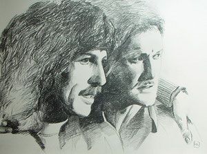 George Harrison/Tony Sheridan,Bleistift,55x74 cm