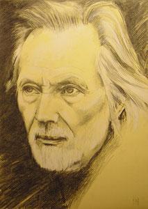 Klaus Voormann,Pastellkreide,Bleistift,70x50 cm