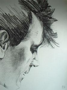 Gene Vincent,Bleistift,74x55 cm
