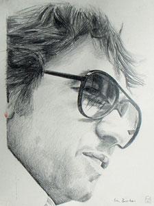 Eric Burdon, Bleistift,52x39 cm