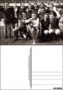 Fan Shop, Postkarte, '1975, Europapokalsieger', Dank an SF Sven