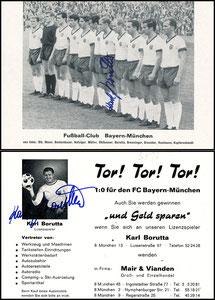Mannschaftskarte 1966 'Karl-Heinz Borutta', 'Fußballclub Bayern München'