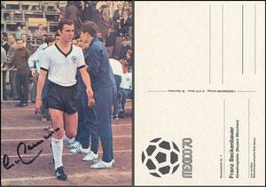 "Bermann, 1970, ""WM Mexiko '70"", Beckenbauer, Dank an SF Klaus"