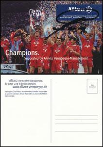 Mannschaftskarte 2001, 'Allianz, CL-Sieg', dicke Karte