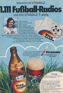 Beckenbauer, 1974, Vitamalz, Zeitungswerbung, Motiv 1