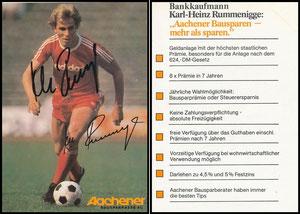 Rummenigge, 1976, Aachener Bausparkasse '8x Prämie', mit Druck-AG