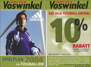 Ballack, 2004, Adidas 'Spielplan EM 2004 - Sport Voswinkel', Klein-Folder