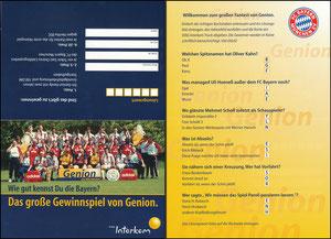 Mannschaftskarte 2000, 'Genion' Klappkarte