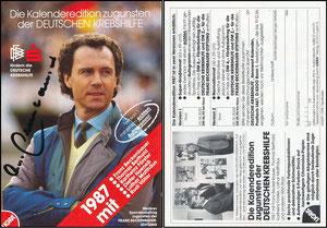 Beckenbauer, 1987, Deutsche Krebshilfe