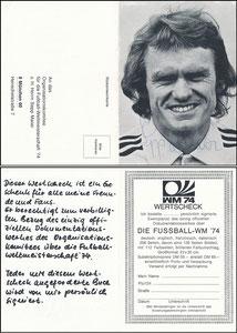 Maier, 1974, Wertscheck WM-Buch, Klappkarte