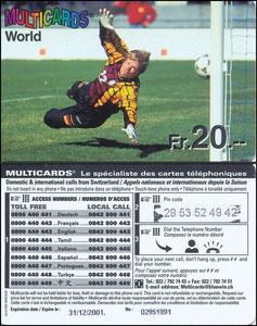 Kahn, 2001, Multicards World, franz. Telefonkarte