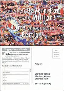 Postkarte, 1998, Bayern München, Weltbild-Verlag, 'Sternstunden der Bundesliga'