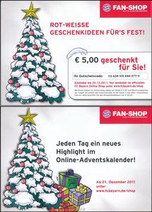 FanShop, 2011, Gutschein 'Weihnachten'
