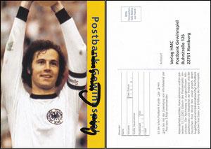 Beckenbauer, 2006, Postbank, Autogrammkarte aus Werbebroschüre