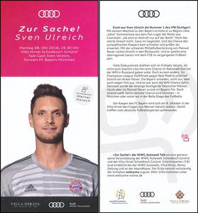 Ulreich, 2018, Audi 'Zur Sache!' der WWG Autowelt Talk