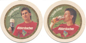Augenthaler, 1986, Aldersbacher, Bierdeckel
