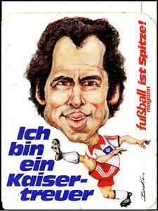 Beckenbauer, 1980, HSV, FußballMagazin, Aufkleber