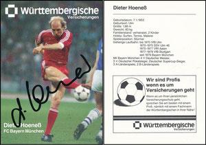 Hoeness, Dieter, 1986, Württembergische Versicherung, Version '4x Deutscher Meister'