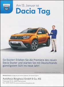Scholl, 2018, Dacia 'Dacia Tag, Autohaus Berghaus', A4