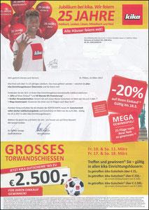 Alaba, 2017, Kika, Werbeanschreiben zum Gutscheinheft 03'2017