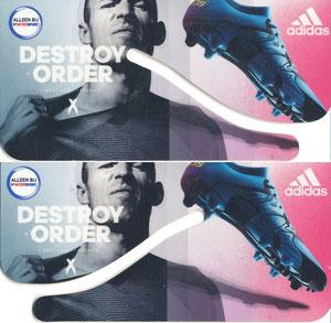 Robben, 2015, Intersport 'Destroy order', Silhouettenkarte