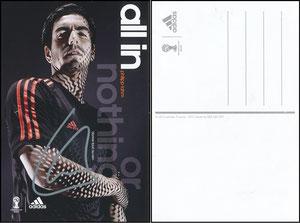Lahm, 2014, Adidas, französische Postkarte