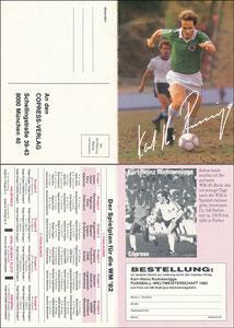 Rummenigge, 1982, 'WM-Buch 1982', Klappkarte