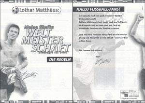 Matthäus, 1998, aus Würfelspiel 'Meine 5. WM', Spielanleitung, A5