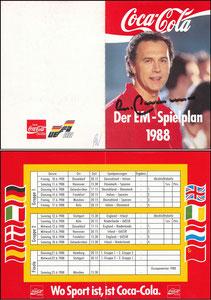 Beckenbauer, 1988, CocaCola EM 1988, Klappkarte Spielplan
