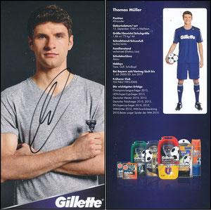 Müller, Thomas, 2014, Gillette 'Autogrammkarte'