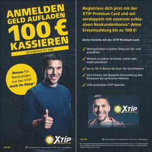 Podolski, 2018, XTip 'Anmelden - Geld aufladen - 100€ kassieren', Variante 3