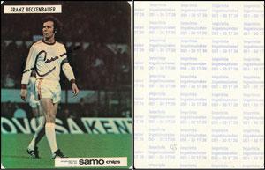 Beckenbauer, 1972, Samo Chips, Aufkleber