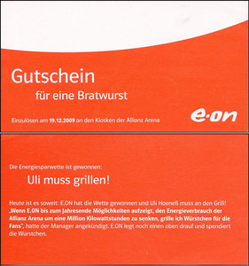 E-On, 2009, Kiosk-Gutschein