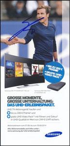 Götze, 2014, Samsung TV 'blau', signiert Götze im Febr. 2019