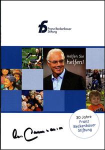 Beckenbauer, 2012, Stiftung, Broschüre A5